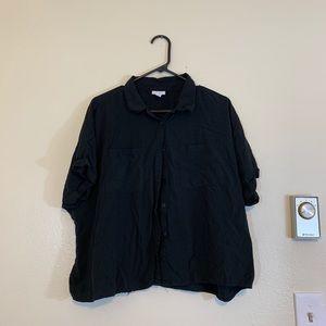 Lularoe Black Button Up - L